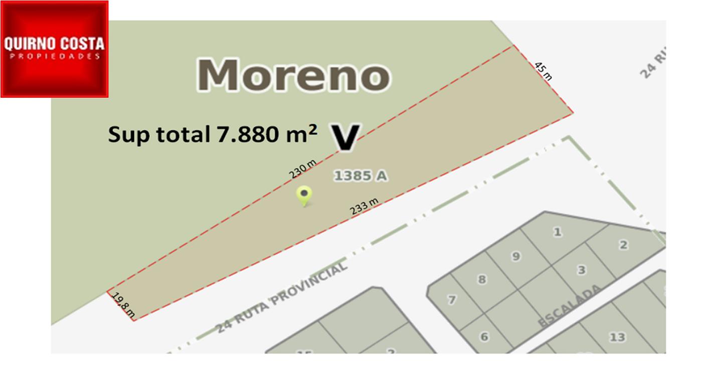 Lote en Moreno. Venta. USD 600.000